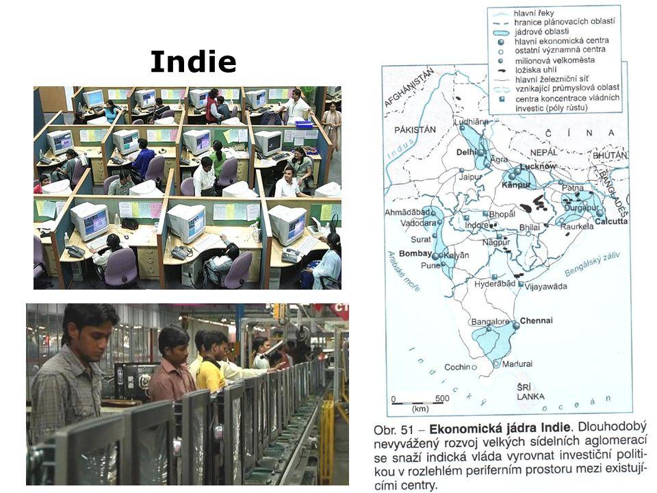 Indie Z0047 Geografie průmyslu a zemědělství