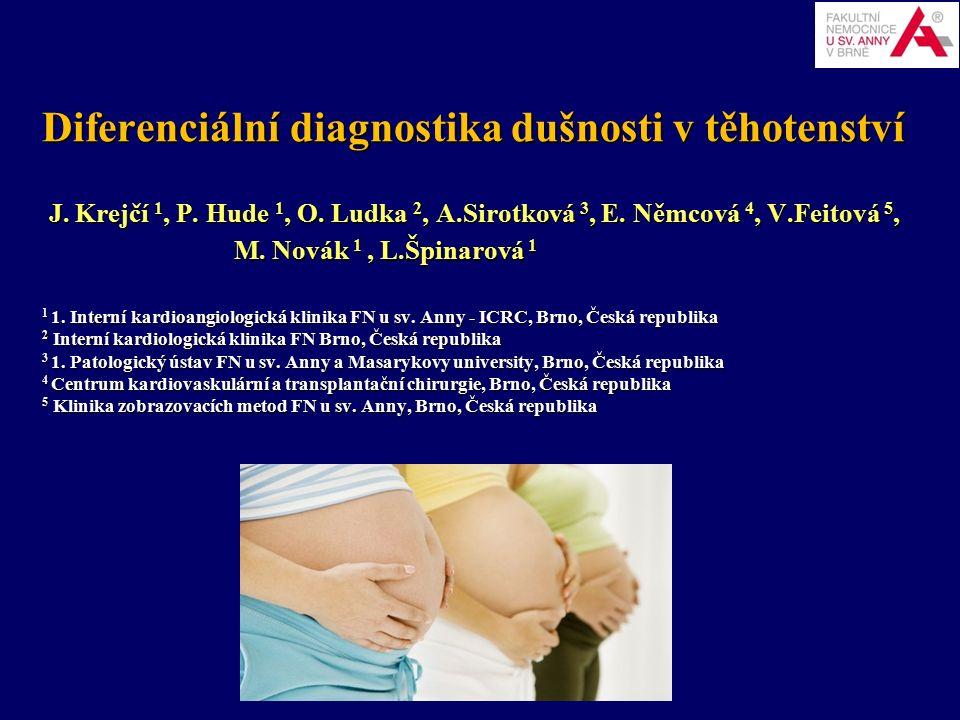 Diferenciální diagnostika dušnosti v těhotenství J.