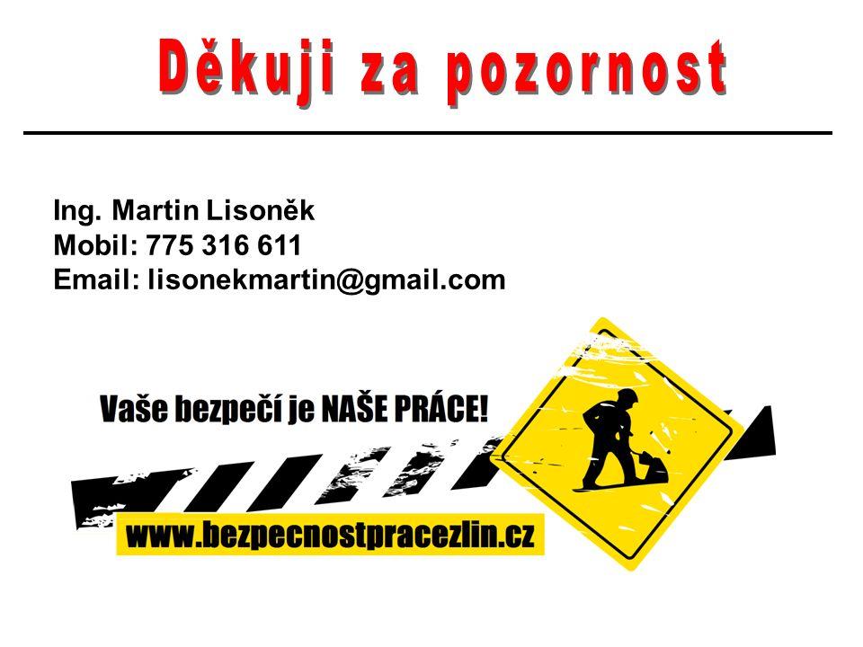 Ing. Martin Lisoněk Mobil: 775 316 611 Email: lisonekmartin@gmail.com