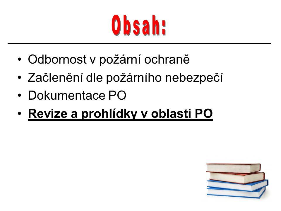 Zákon o č.133/1985 Sb. o PO Osoba odborně způsobilá dle § 11 odst.