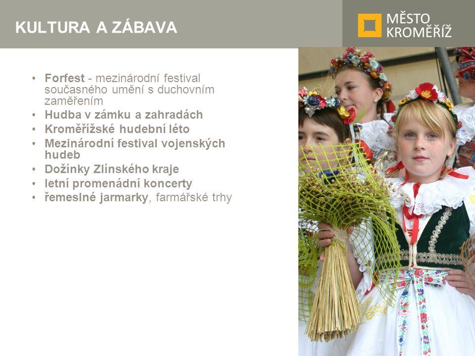 KULTURA A ZÁBAVA Forfest - mezinárodní festival současného umění s duchovním zaměřením Hudba v zámku a zahradách Kroměřížské hudební léto Mezinárodní