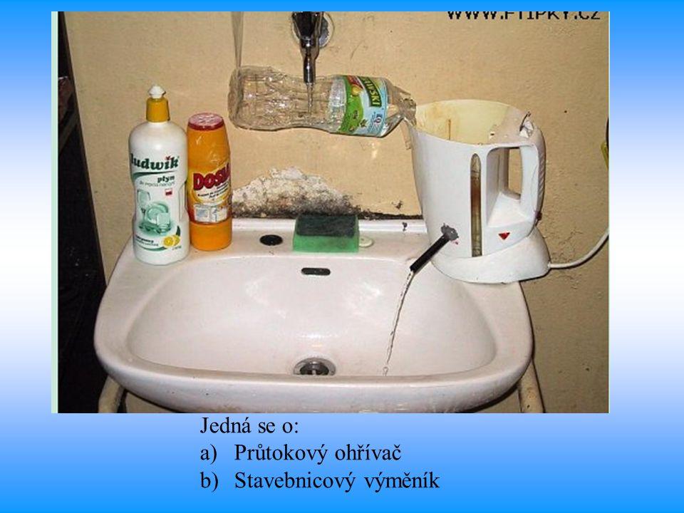 Jedná se o: a)Průtokový ohřívač b)Stavebnicový výměník