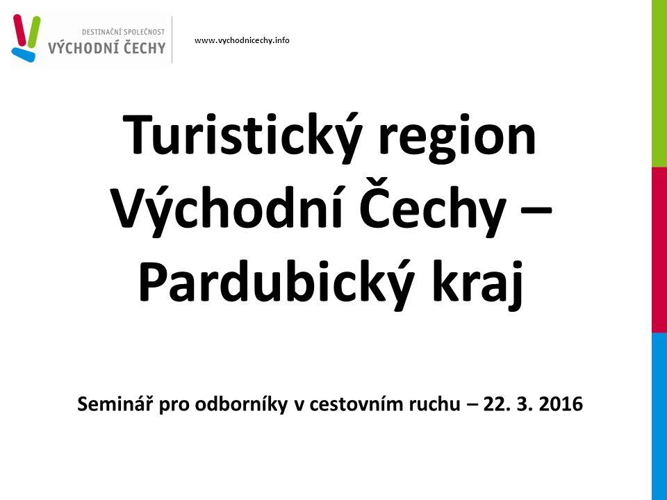 Turistický region Východní Čechy – Pardubický kraj Seminář pro odborníky v cestovním ruchu – 22.