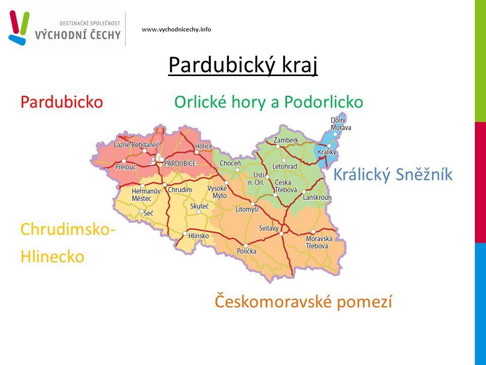 Pardubický kraj Pardubicko Orlické hory a Podorlicko Králický Sněžník Chrudimsko- Hlinecko Českomoravské pomezí www.vychodnicechy.info