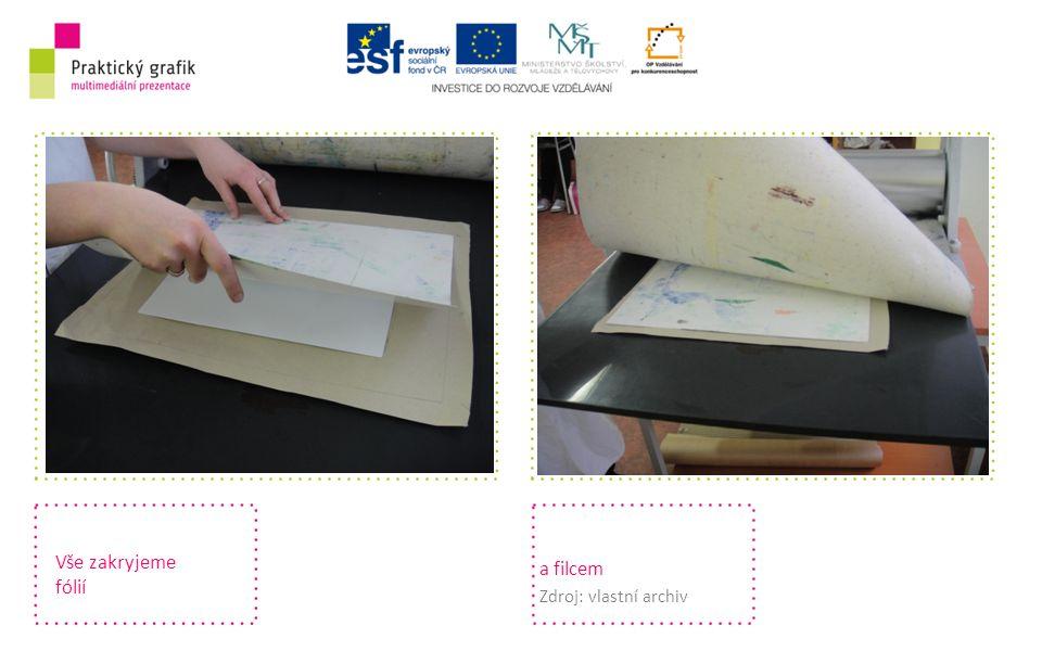 Vše zakryjeme fólií a filcem Zdroj: vlastní archiv