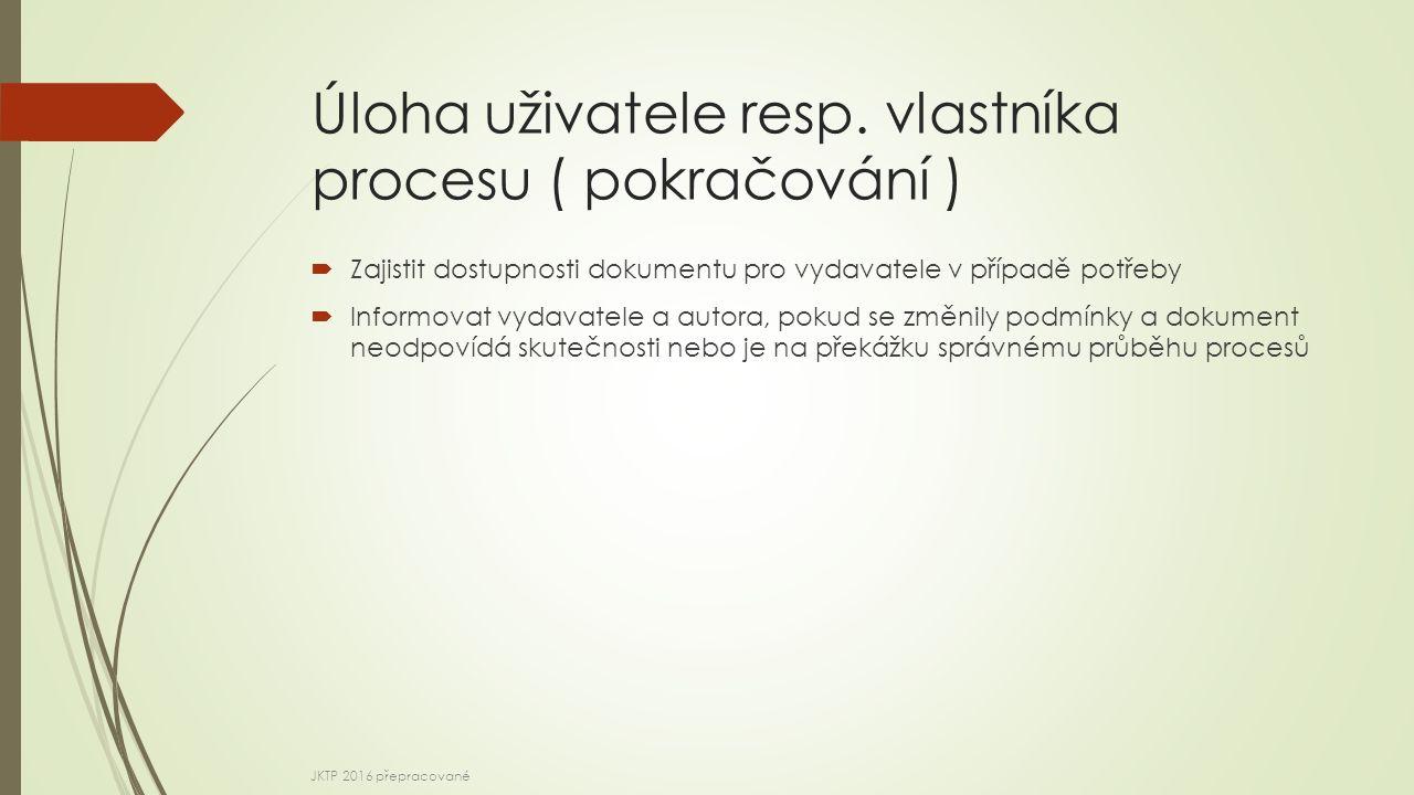 Úloha uživatele resp.