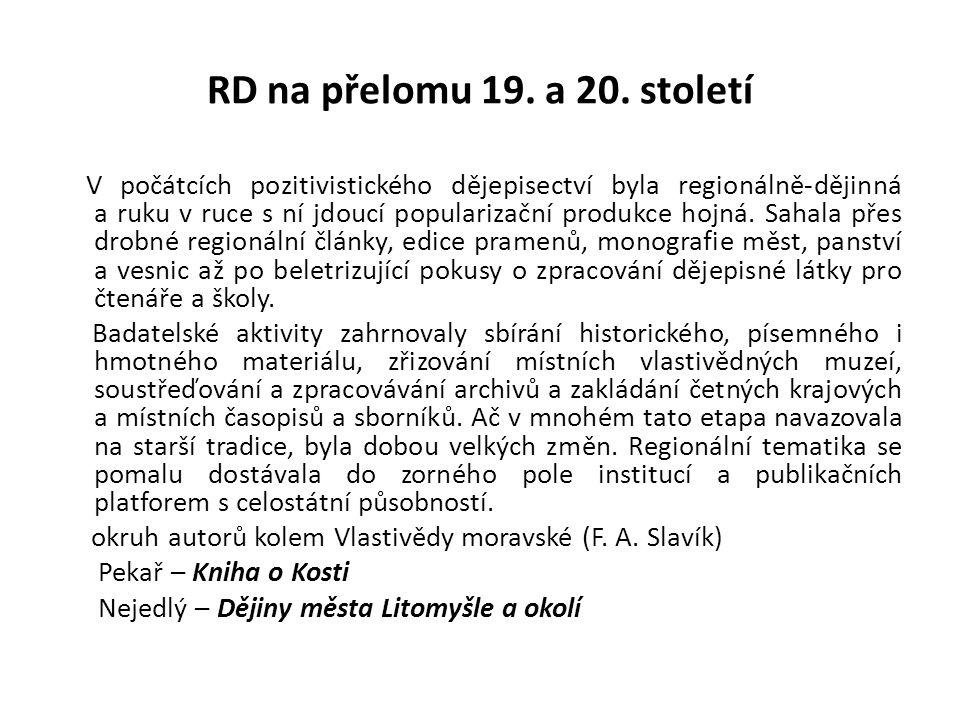 RD na přelomu 19.a 20.