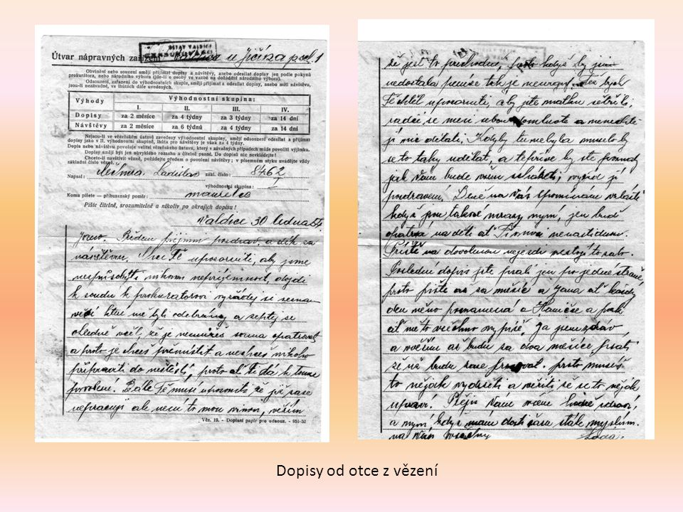 Dopisy od otce z vězení