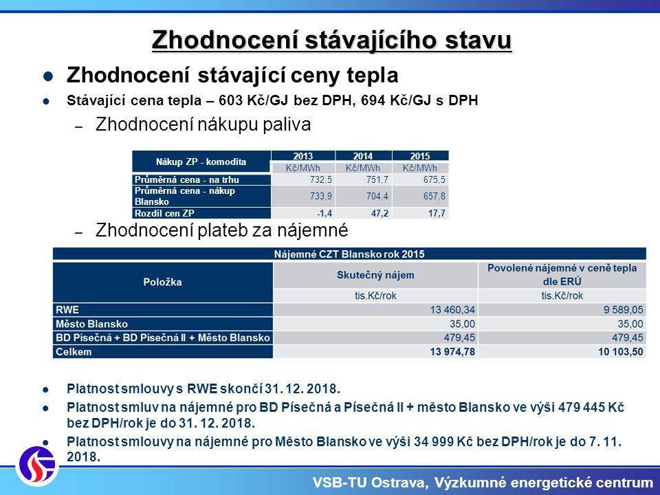 VSB-TU Ostrava, Výzkumné energetické centrum Navrhovaná úsporná opatření  NO1 – Rekonstrukce provozních kotelen  NO2 – Instalace KGJ  NO3 – Instalace KGJ – externí financování  NO4 – Rekonstrukce teplovodních rozvodů