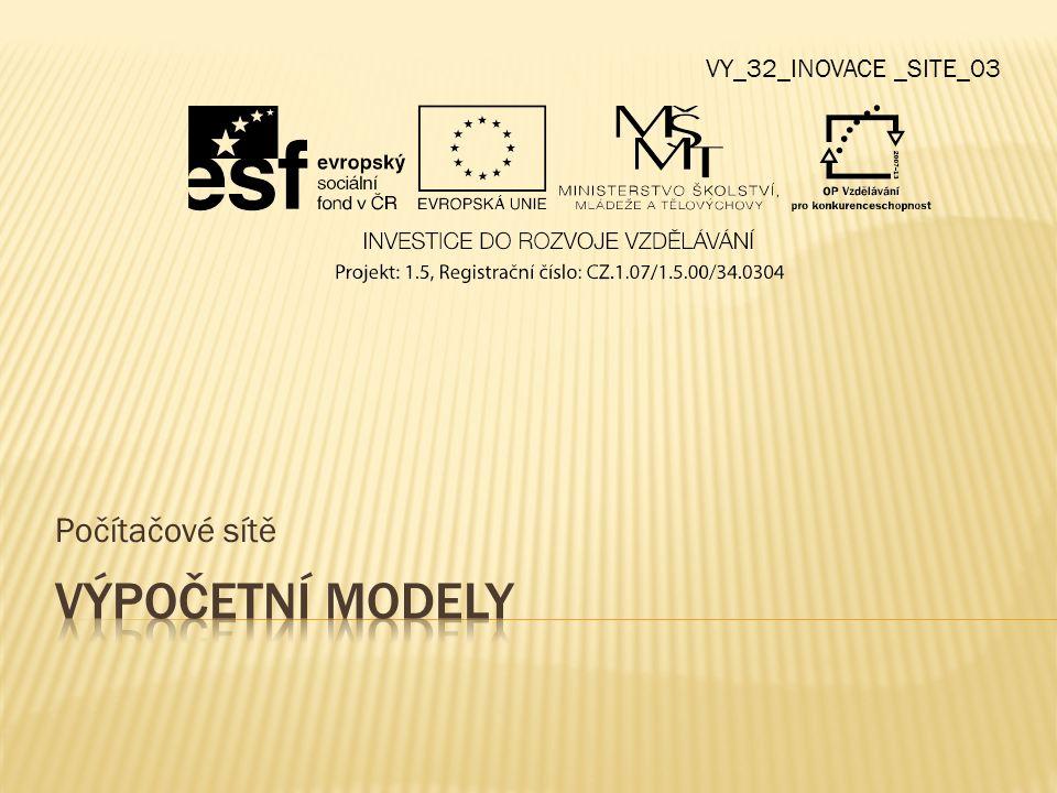 Počítačové sítě VY_32_INOVACE _SITE_03