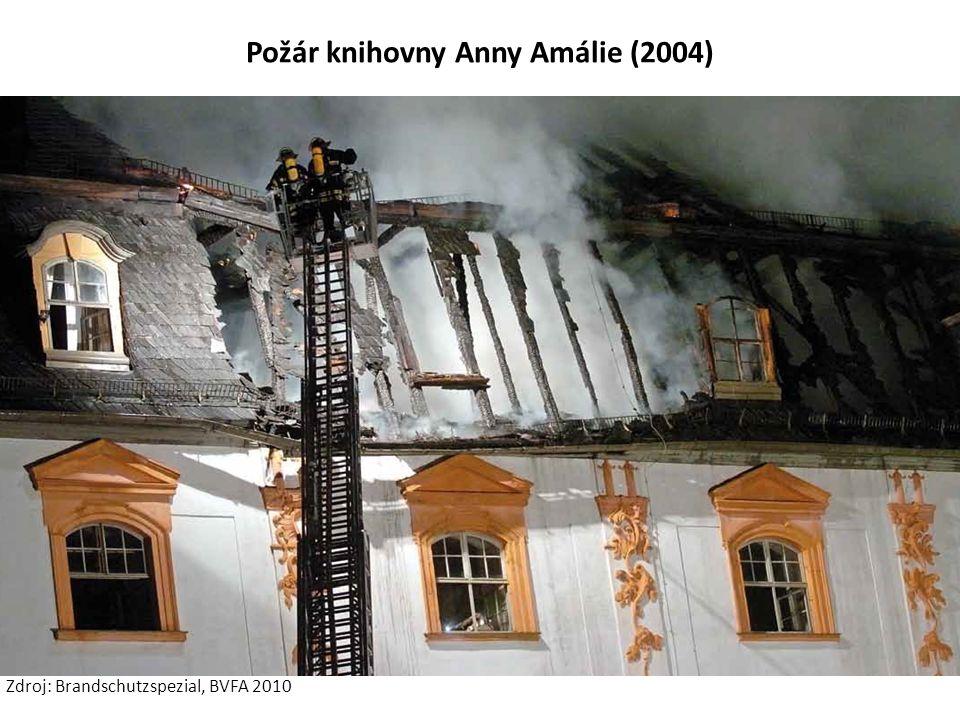 Požár knihovny Anny Amálie (2004) Zdroj: Brandschutzspezial, BVFA 2010