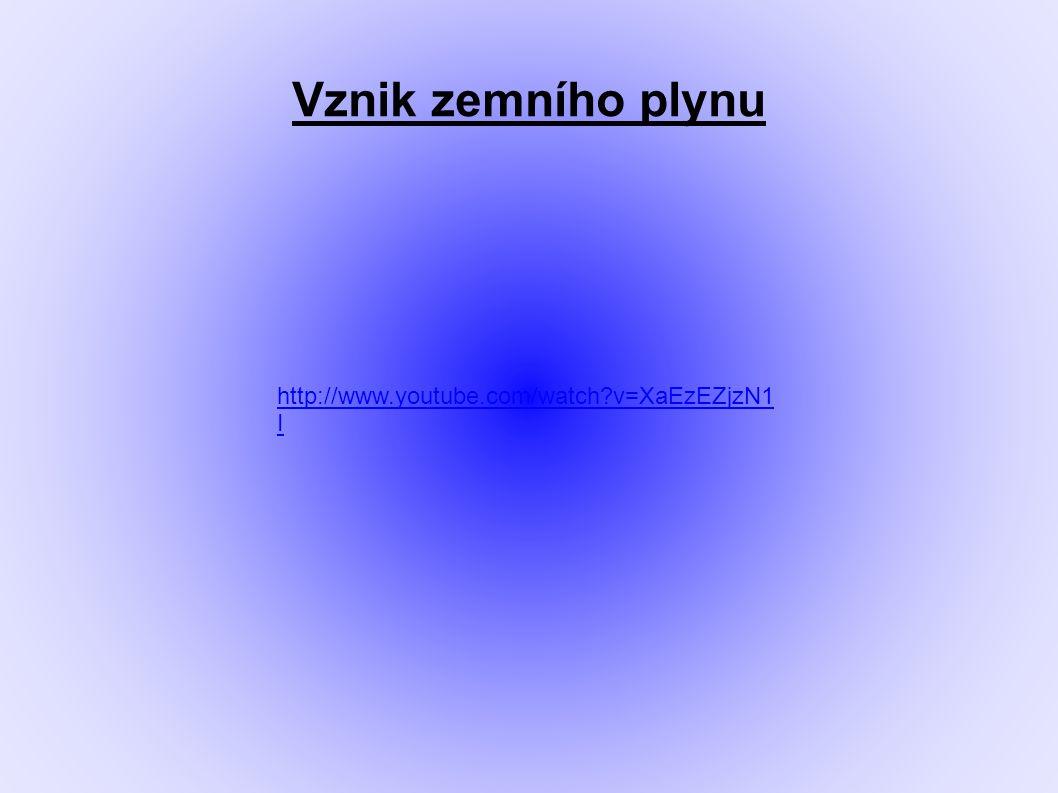 Vznik zemního plynu http://www.youtube.com/watch?v=XaEzEZjzN1 I