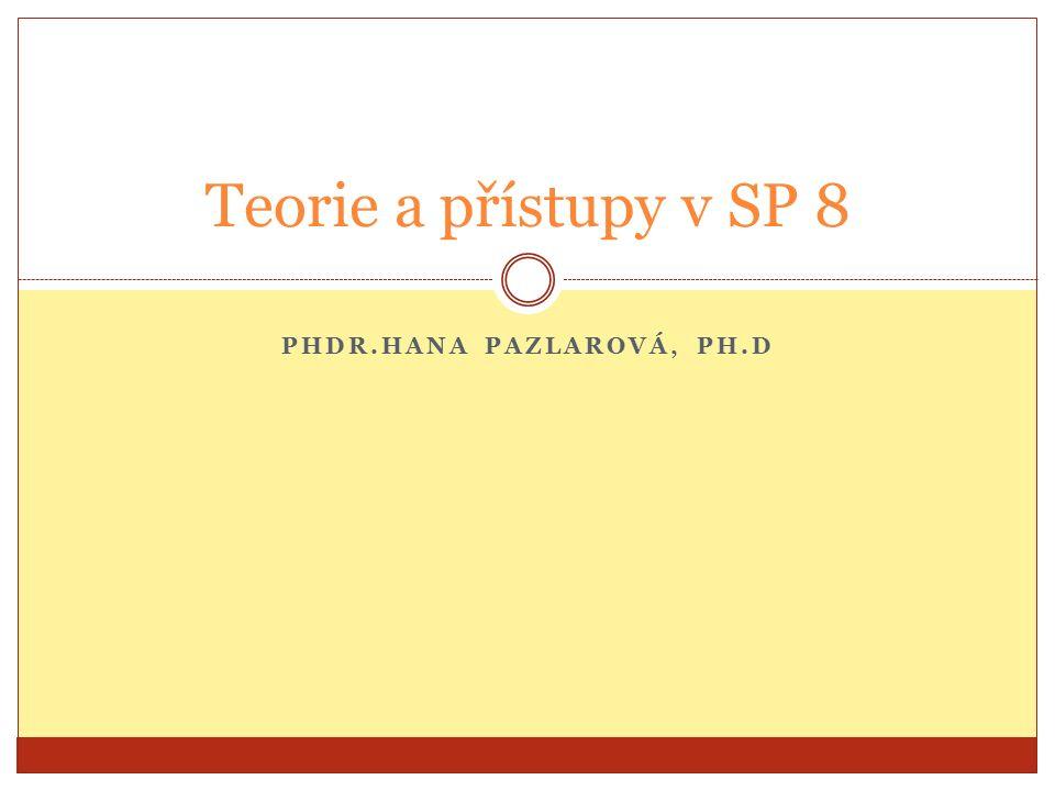 PHDR.HANA PAZLAROVÁ, PH.D Teorie a přístupy v SP 8