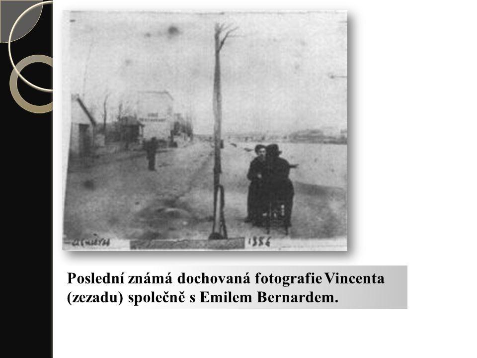 Poslední známá dochovaná fotografie Vincenta (zezadu) společně s Emilem Bernardem.