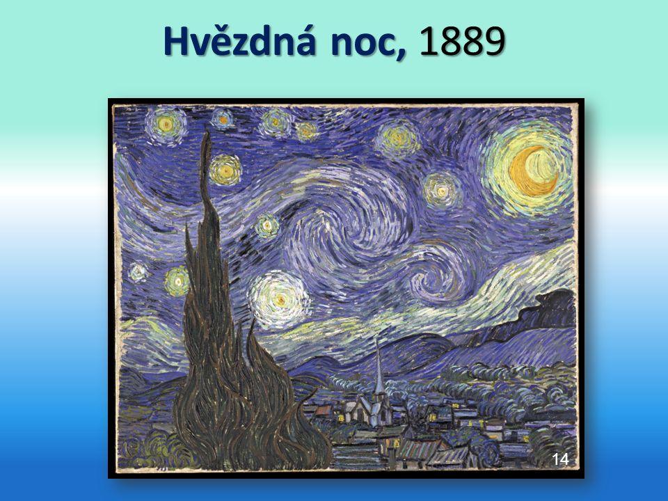 Hvězdná noc, 1889 s 14