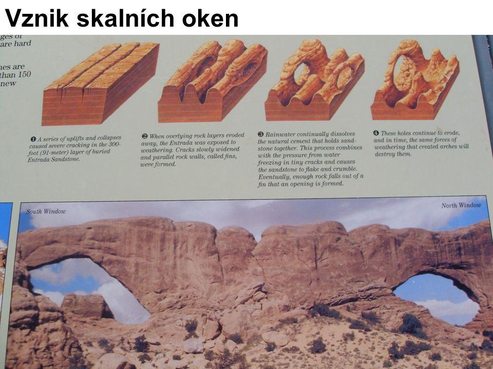 Vznik skalních oken