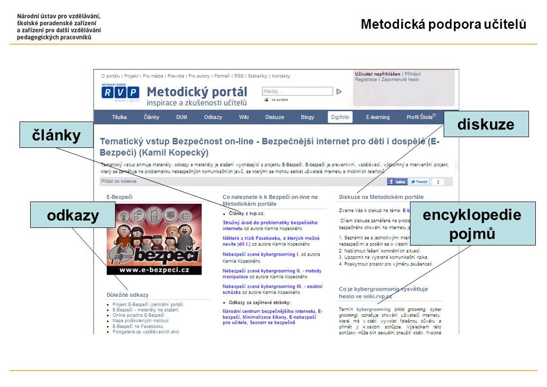 Metodická podpora učitelů diskuze odkazy články encyklopedie pojmů