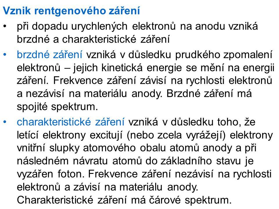 Brzdné a charakteristické záření [5]