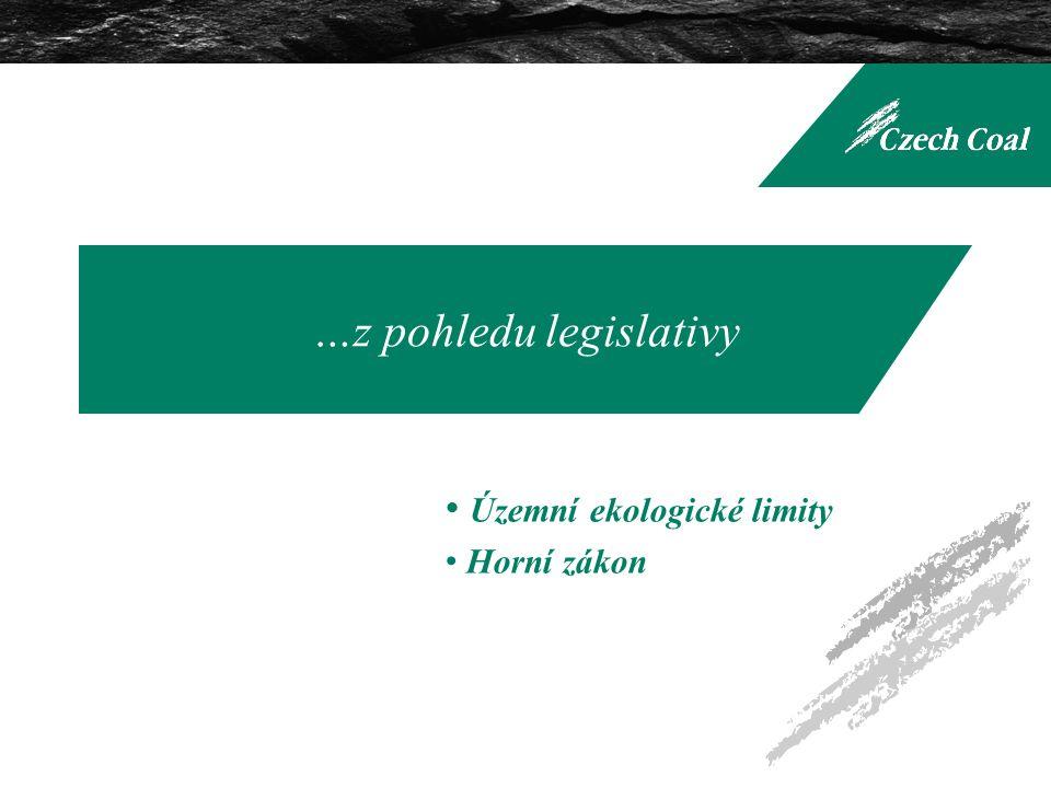 …z pohledu legislativy Územní ekologické limity Horní zákon