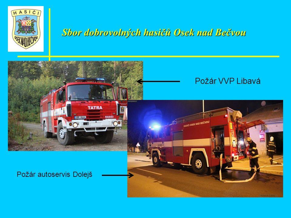 Požár VVP Libavá Požár autoservis Dolejš