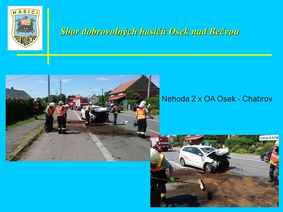 Sbor dobrovolných hasičů Osek nad Bečvou Nehoda 2 x OA Osek - Chabrov
