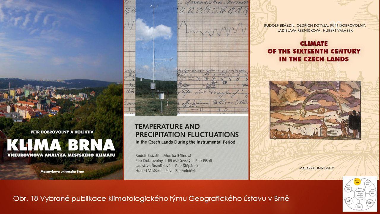Obr. 18 Vybrané publikace klimatologického týmu Geografického ústavu v Brně Z2011 Metody geografického výzkumu 20