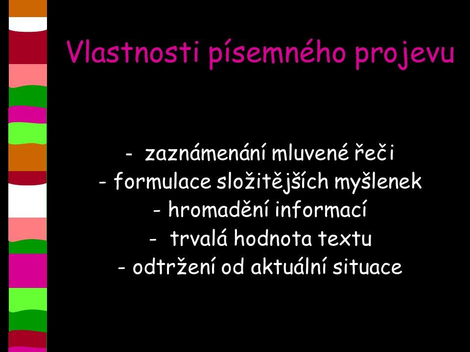 Písmo (grafika) = soustava grafických znaků Základní grafická jednotka = písmeno (grafém) Čeština používá latinku (42 písmen, z toho 26 prostých, 15 s diakritickým znaménkem a spřežka CH).