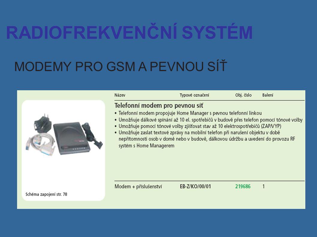 RADIOFREKVENČNÍ SYSTÉM MODEMY PRO GSM A PEVNOU SÍŤ