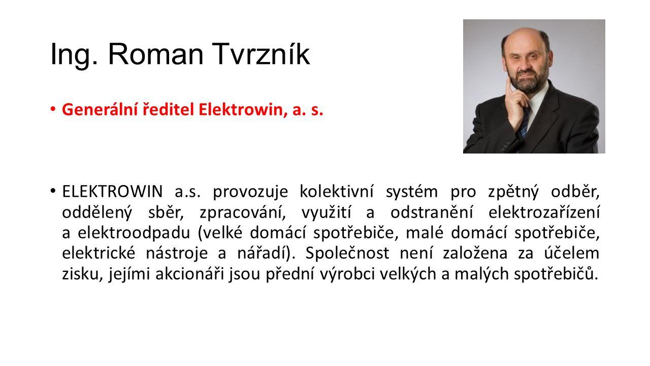 Ing. Roman Tvrzník Generální ředitel Elektrowin, a.