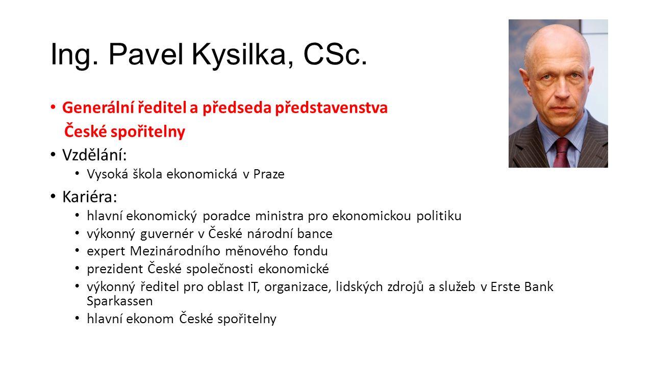 Ing. Pavel Kysilka, CSc.