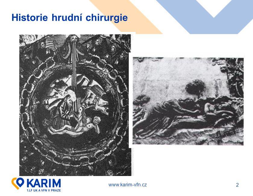 www.karim-vfn.cz Historie hrudní chirurgie - Prof.