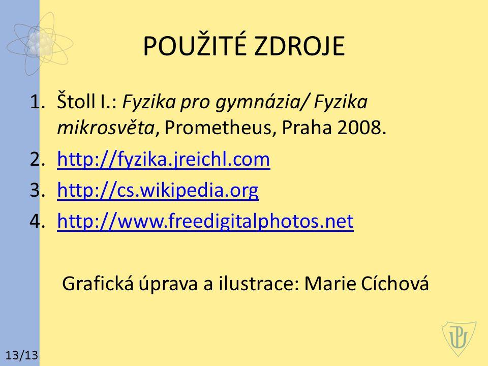 POUŽITÉ ZDROJE 1.Štoll I.: Fyzika pro gymnázia/ Fyzika mikrosvěta, Prometheus, Praha 2008.