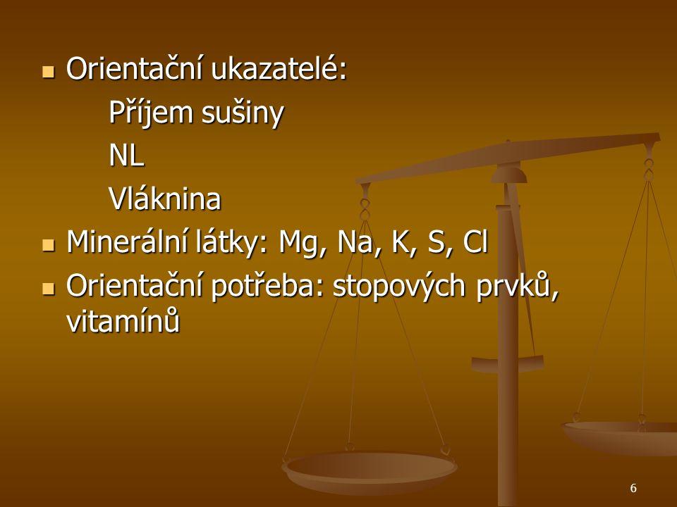 5 Základní ukazatelé krmné dávky pro skot: NEL nebo NEV NEL nebo NEV PDI PDI Ca, P Ca, P