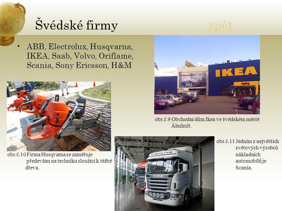 Švédské firmy zpětzpět ABB, Electrolux, Husqvarna, IKEA, Saab, Volvo, Oriflame, Scania, Sony Ericsson, H&M obr.č.9 Obchodní dům Ikea ve švédském městě