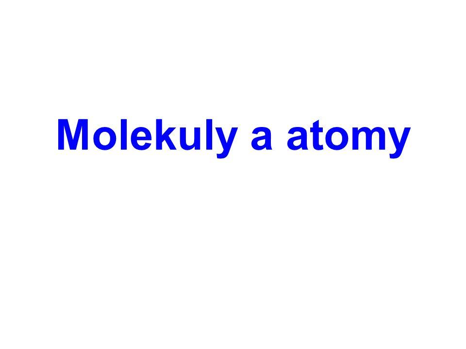 Molekuly a atomy