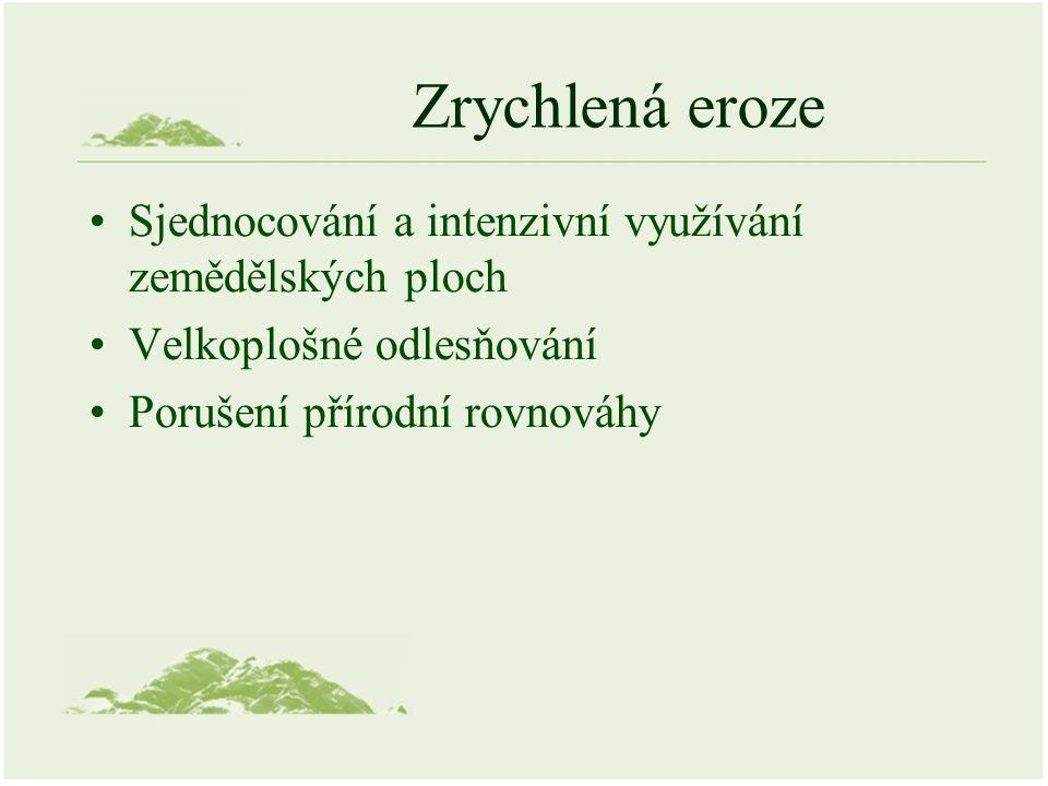 Ohrožení vodní erozí v ČR Zdroj: http://eroze.sweb.cz/