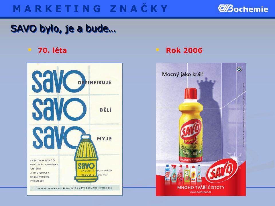 SAVO bylo, je a bude…  70. léta  Rok 2006 M A R K E T I N G Z N A Č K Y