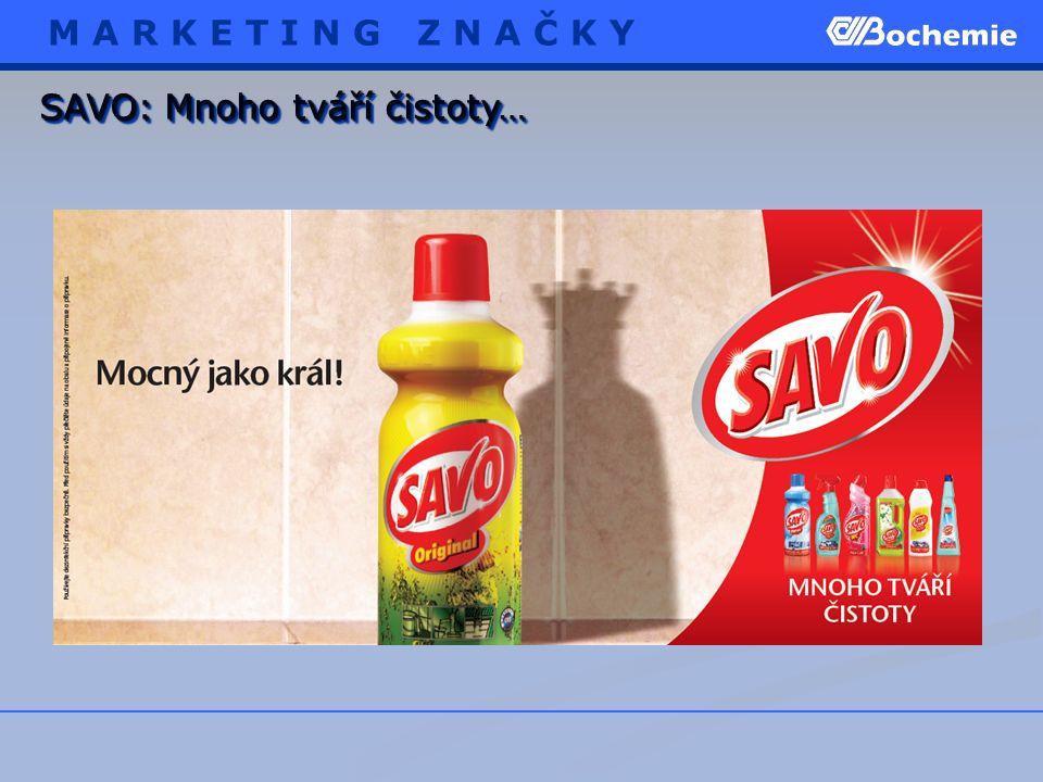 SAVO: Mnoho tváří čistoty… M A R K E T I N G Z N A Č K Y