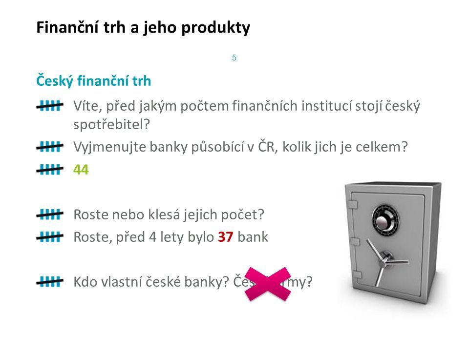 Víte, před jakým počtem finančních institucí stojí český spotřebitel.