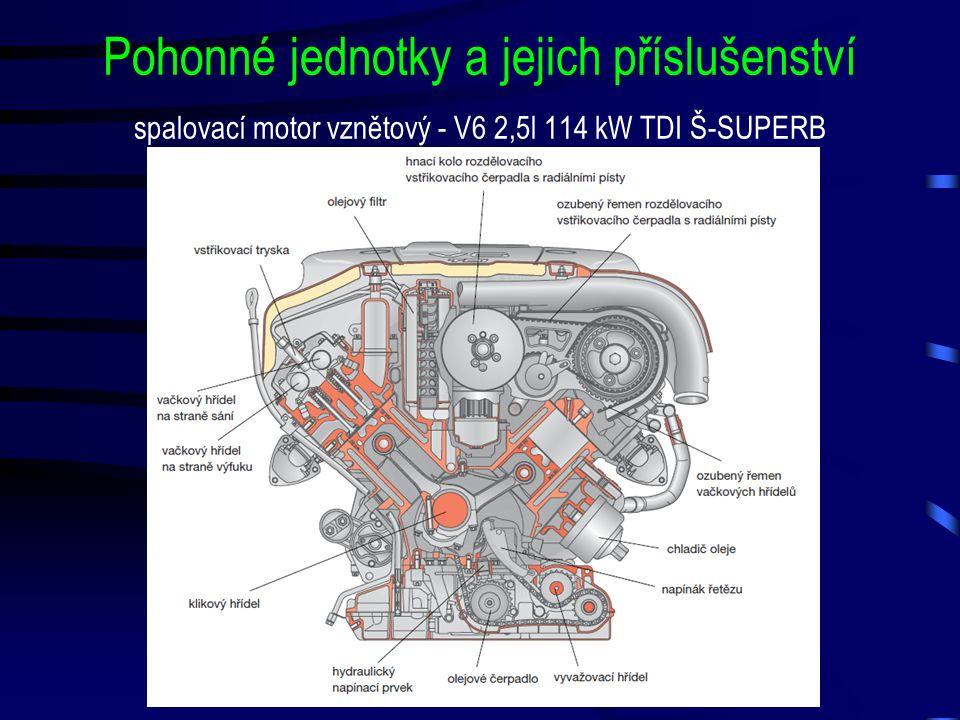 Pohonné jednotky a jejich příslušenství spalovací motor vznětový - V6 2,5l 114 kW TDI Š-SUPERB