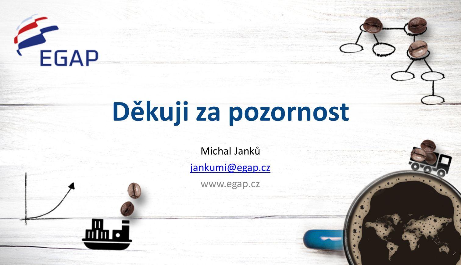Děkuji za pozornost Michal Janků jankumi@egap.cz www.egap.cz