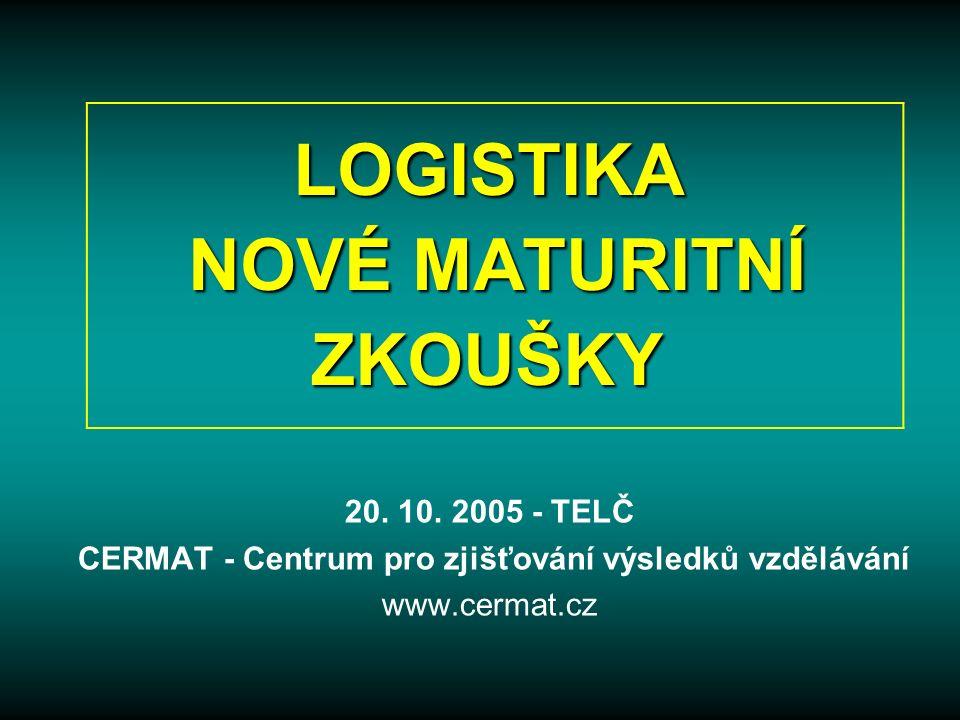 LOGISTIKA NOVÉ MATURITNÍ ZKOUŠKY 20. 10.