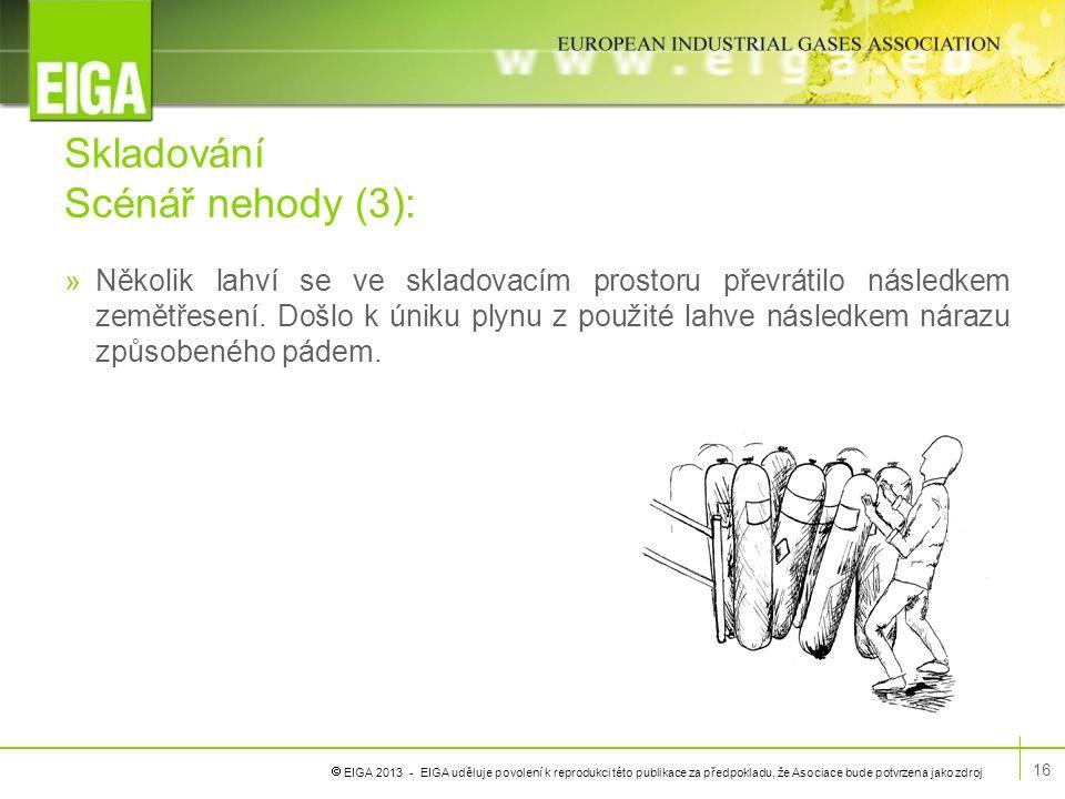  EIGA 2013 - EIGA uděluje povolení k reprodukci této publikace za předpokladu, že Asociace bude potvrzena jako zdroj Skladování Scénář nehody (3): »N