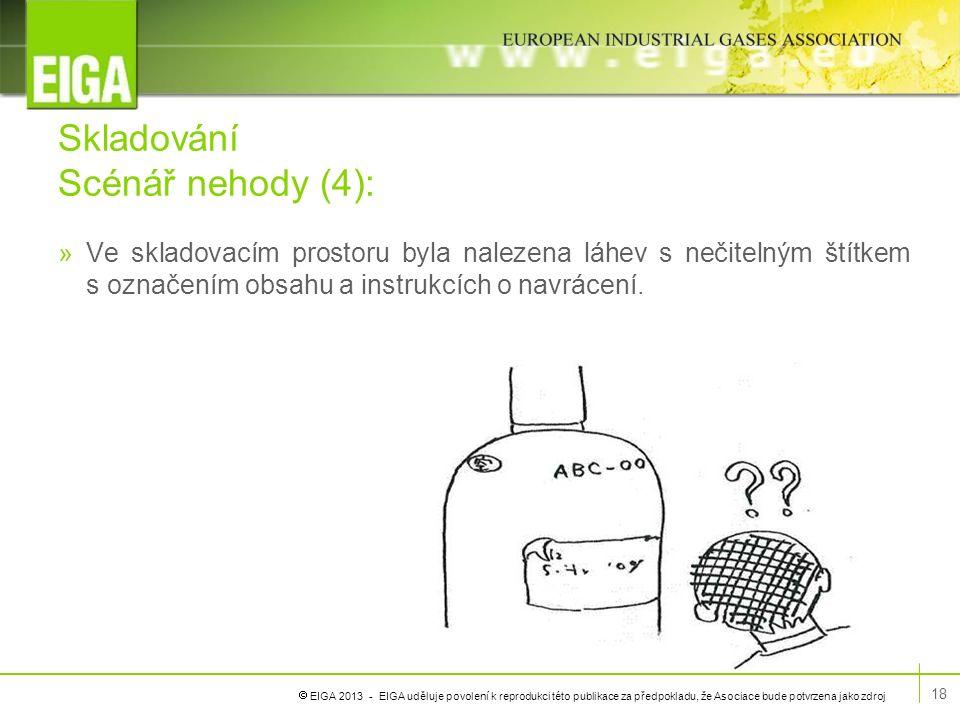  EIGA 2013 - EIGA uděluje povolení k reprodukci této publikace za předpokladu, že Asociace bude potvrzena jako zdroj Skladování Scénář nehody (4): »V