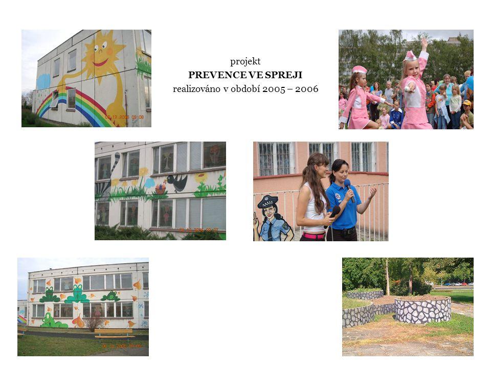 projekt PREVENCE VE SPREJI realizováno v období 2005 – 2006