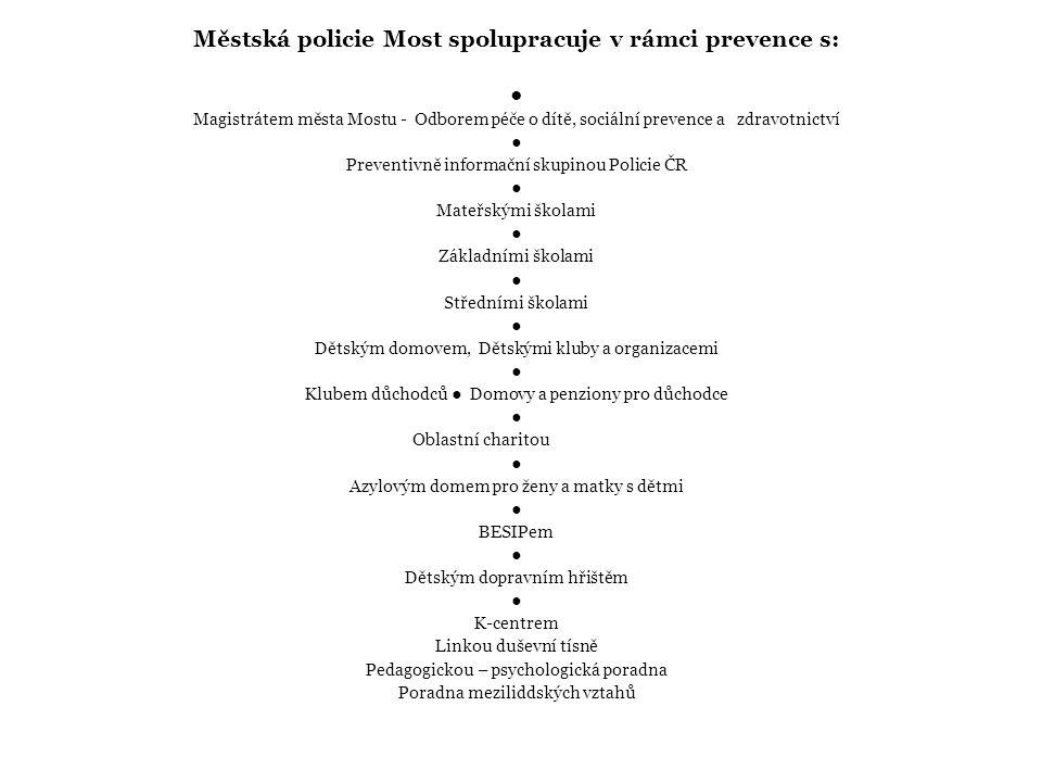 Preventisté Městské policie Most jsou členy komisí města Mostu, např.