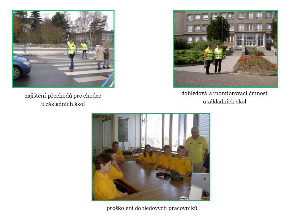 zajištění přechodů pro chodce u základních škol dohledová a monitorovací činnost u základních škol proškolení dohledových pracovníků