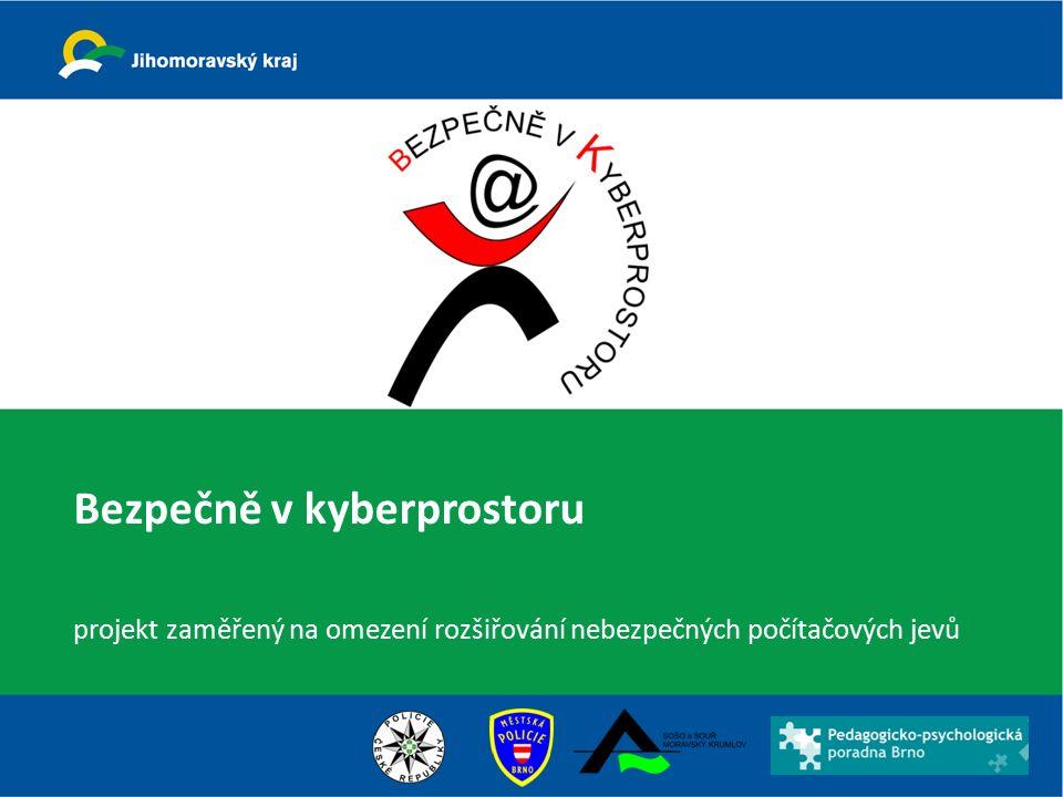 """Projekt """"Bezpečně v kyberprostoru vznikl postupně z iniciativy Jihomoravského kraje."""