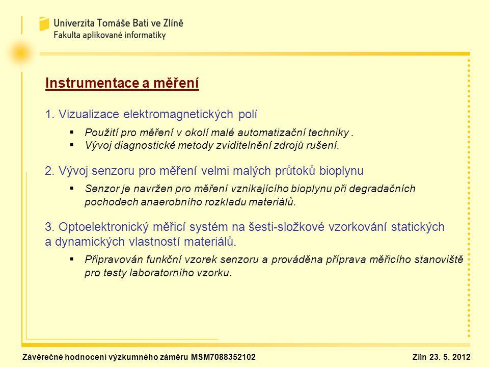 Instrumentace a měření 1. Vizualizace elektromagnetických polí   Použití pro měření v okolí malé automatizační techniky.   Vývoj diagnostické meto