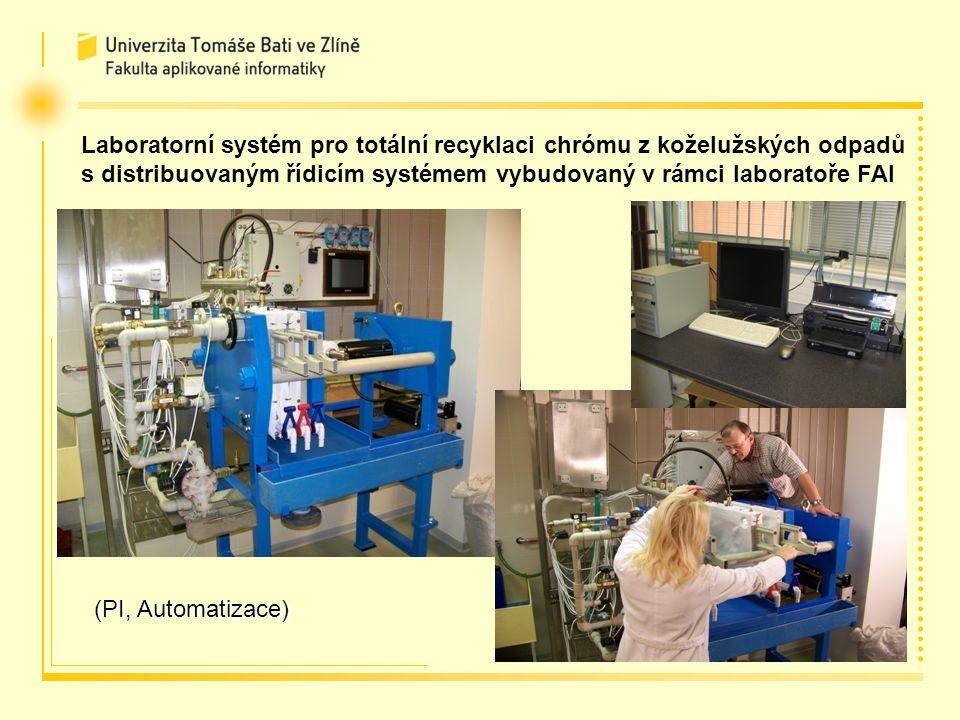 Laboratorní systém pro totální recyklaci chrómu z koželužských odpadů s distribuovaným řídicím systémem vybudovaný v rámci laboratoře FAI (PI, Automatizace)
